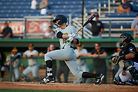 West Virginia Black Bears Matt Gorski (36) bats during a NY-Penn League game against the Batavia Muckdogs on June 26, 2019 at Dwyer Stadium in Batavia, New York.  Batavia defeated West Virginia 4-2.  (Mike Janes/Four Seam Images)
