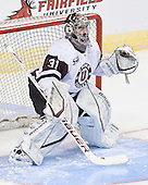 Corey Milan (Union - 31) - The University of Minnesota-Duluth Bulldogs defeated the Union College Dutchmen 2-0 in their NCAA East Regional Semi-Final on Friday, March 25, 2011, at Webster Bank Arena at Harbor Yard in Bridgeport, Connecticut.