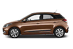 Car Driver side profile view of a 2015 Hyundai I20 Intro Edition 5 Door Hatchback Side View