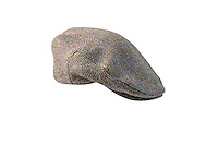 Studio photograph of the Mens Highland Harris Tweed Cap