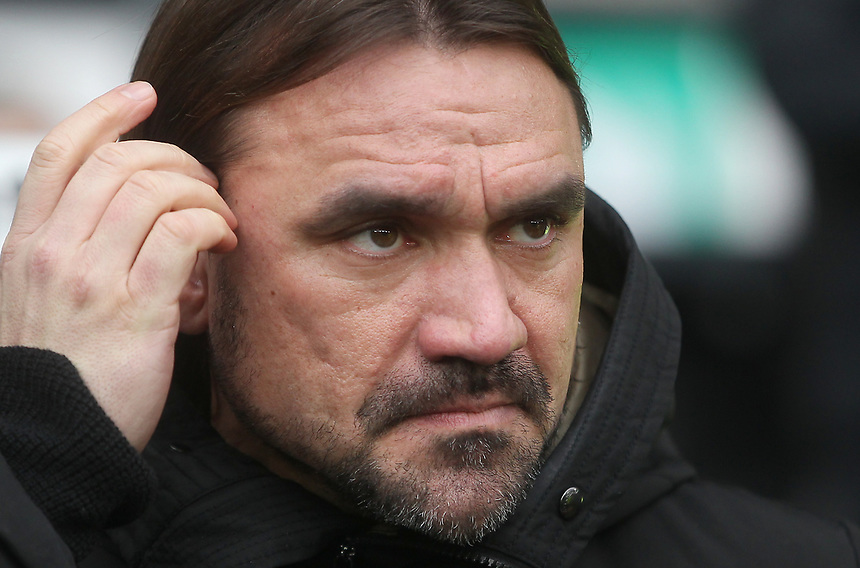 Norwich City's Manager Daniel Farke <br /> <br /> Photographer Mick Walker/CameraSport<br /> <br /> The EFL Sky Bet Championship - Derby County v Norwich City - Saturday 10th February 2018 - Pride Park - Derby<br /> <br /> World Copyright &copy; 2018 CameraSport. All rights reserved. 43 Linden Ave. Countesthorpe. Leicester. England. LE8 5PG - Tel: +44 (0) 116 277 4147 - admin@camerasport.com - www.camerasport.com