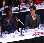 Condola Rashad and Andrew Garfield on stage during the 2018 Drama League Awards at the Marriot Marquis Times Square on May 18, 2018 in New York City.
