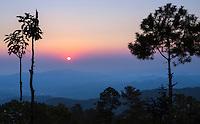 Sunrise in Mindat, Chin hills, Myanmar