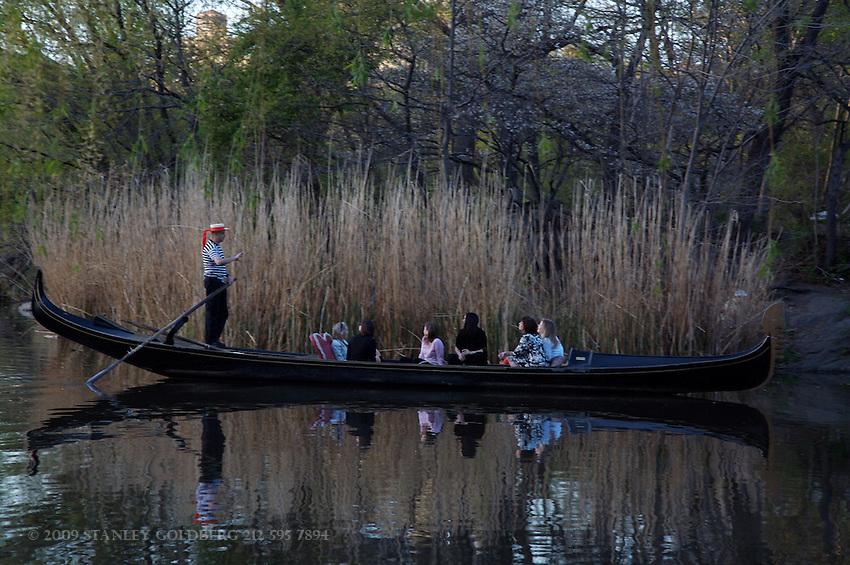 Gondola in Central Park Boat Basin