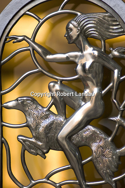 Art Deco detail of gate at Oviatt Building in downtown Los Angeles