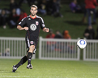 Daniel Woolard(21) of D.C. United  during a play-in game for the US Open Cup tournament against the Philadelphia Union at Maryland Sportsplex, in Boyds, Maryland on April 6 2011. D.C. United won 3-2 after overtime penalty kicks.