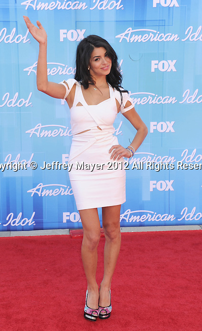 LOS ANGELES, CA - MAY 23: Rima Fakih  arrives at 'American Idol' Season 11 Grand Finale Show at Nokia Theatre L.A. Live on May 23, 2012 in Los Angeles, California.