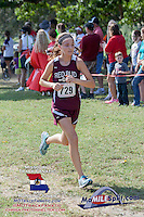 Red Bud's Keri Burmester took third in the 1A-2A Varsity Race.