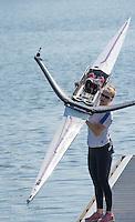 Brandenburg. GERMANY. GBR W1X, Mathilda HODGKINS-BYRNE<br /> 2016 European Rowing Championships at the Regattastrecke Beetzsee<br /> <br /> Saturday  07/05/2016<br /> <br /> [Mandatory Credit; Peter SPURRIER/Intersport-images]