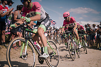 Taylor Phinney (USA/Education First-Drapac) / Team EF Education First -DRAPAC p/b cannondale on pav&eacute; sector #2<br /> <br /> Stage 9: Arras Citadelle &gt; Roubaix (154km)<br /> <br /> 105th Tour de France 2018<br /> &copy;kramon