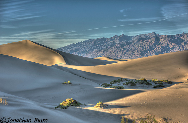 Mesquite Flat Dunes at Sunset/HDR