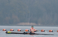 Caversham. Berkshire. UK<br /> Lucy BURGESS.<br /> 2016 GBRowing U23 Trials at the GBRowing Training base near Reading, Berkshire.<br /> <br /> Monday  11/04/2016 <br /> <br /> [Mandatory Credit; Peter SPURRIER/Intersport-images]