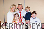 Pat O'Neill with his proud wife Geraldine and kids Laura, Finn and Luke at the Strictly Come Dancing in aid of the Irish Cancer Society in the INEC on Friday night
