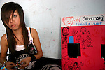 A teenaged girl at a UNICEF-supported drop-in centre in Chiang Mai, northern Thailand.<br /> <br /> This drop-in centre works with local children to educate them about HIV/AIDS. Some of the children are working in the sex industry or are involved with drugs. They desperately need information and skills to keep themselves safe.<br /> <br /> In May 2007, Qantas staff from the Change for Good programme visited UNICEF in northern Thailand to see how money they have raised is helping children.