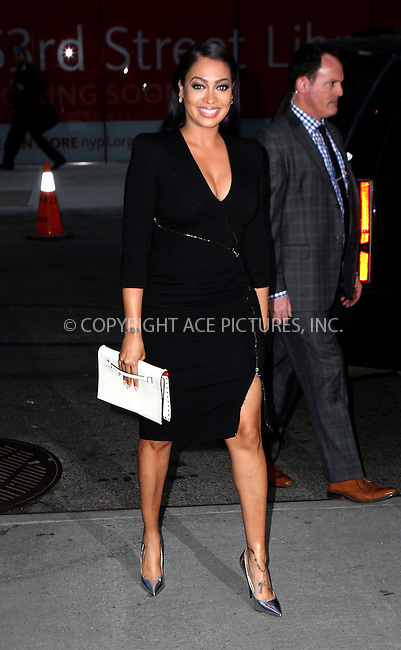WWW.ACEPIXS.COM<br /> <br /> March 30 2015, New York City<br /> <br /> La La Anthony arriving at the 'Woman In Gold' New York premiere at Museum of Modern Art on March 30, 2015 in New York City. <br /> <br /> By Line: Nancy Rivera/ACE Pictures<br /> <br /> <br /> ACE Pictures, Inc.<br /> tel: 646 769 0430<br /> Email: info@acepixs.com<br /> www.acepixs.com