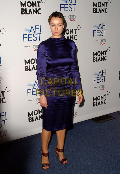"SAMANTHA MORTON.The AFI Festival's World Premiere of ""The Libertine"" held at The Rooftop Village at The Arclight Theatre in Hollywood, California.  .November 11th, 2005.Ref: DVS.full length purple dress.www.capitalpictures.com.sales@capitalpictures.com.Supplied By Capital PIctures"