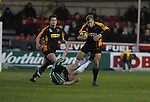 Paul Emerick manages to get away  Magners League Newport Gwent Dragons Vs Connacht. 18.04.08 Copyright IJC Photography www.ijcphotography.co.uk. iancook@ijcphotography.co.uk
