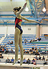 Camille Roberts of Cold Spring Harbor leaps from the board during the Nassau County girls' diving championship and state qualifier at Nassau Aquatic Center on Wednesday, November 4, 2015. She won the competition and qualified for states with a total score of 449.85.<br /> <br /> James Escher