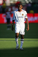 Real Salt Lake defender and Team Captain Eddie Pope (23). CD Chivas USA beat Real Salt Lake 1-0 in a MLS game at the Home Depot Center in Carson, California, Sunday, August 26, 2007.