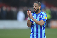 Blackpool's Liam Feeney applauds the fans at the final whistle <br /> <br /> Photographer Kevin Barnes/CameraSport<br /> <br /> The EFL Sky Bet League One - Fleetwood Town v Blackpool - Saturday 7th March 2020 - Highbury Stadium - Fleetwood<br /> <br /> World Copyright © 2020 CameraSport. All rights reserved. 43 Linden Ave. Countesthorpe. Leicester. England. LE8 5PG - Tel: +44 (0) 116 277 4147 - admin@camerasport.com - www.camerasport.com