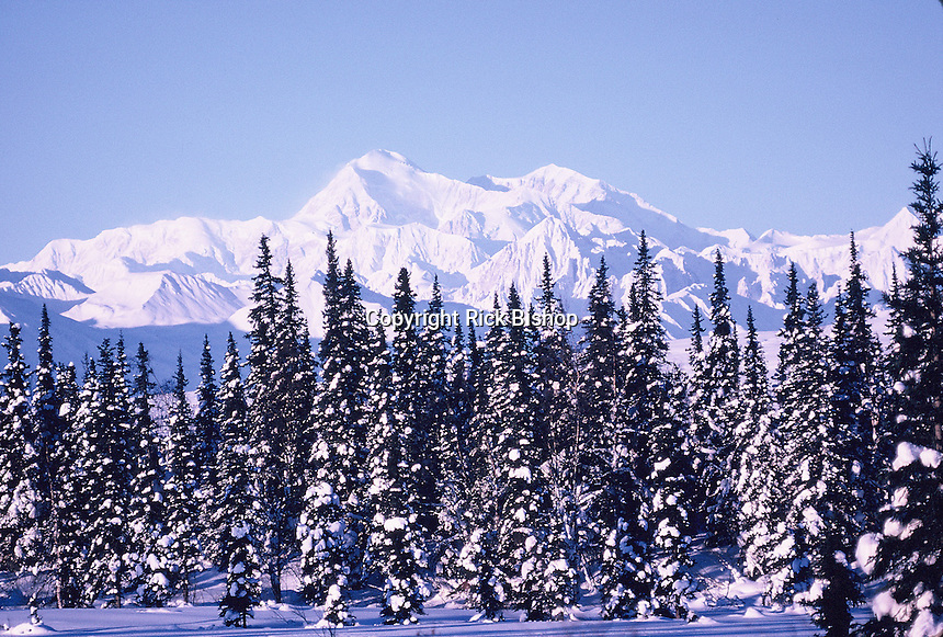 Alaska's Mt.McKinley seen on a winter day.