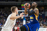 Real Madrid Luka Doncic and Khimki Moscow Thomas Robinson during Turkish Airlines Euroleague match between Real Madrid and Khimki Moscow at Wizink Center in Madrid, Spain. November 02, 2017. (ALTERPHOTOS/Borja B.Hojas) /NortePhoto.com