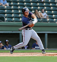 Outfielder Will Skinner (26) of the Rome Braves, an Atlanta Braves affiliate, in a game against the Greenville Drive on July 6, 2012, at Fluor Field at the West End in Greenville, South Carolina. Greenville won, 4-0. (Tom Priddy/Four Seam Images)