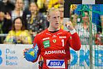 Rhein Neckar Loewe Mikael Appelgren (Nr.1) jubelt beim Spiel in der Handball Bundesliga, Rhein Neckar Loewen - HSG Wetzlar.<br /> <br /> Foto &copy; PIX-Sportfotos *** Foto ist honorarpflichtig! *** Auf Anfrage in hoeherer Qualitaet/Aufloesung. Belegexemplar erbeten. Veroeffentlichung ausschliesslich fuer journalistisch-publizistische Zwecke. For editorial use only.