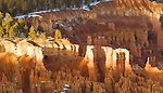 Hoodoos, as seen from Inspiration Point, Bryce Canyon National Park Utah, USA, on December 7th 2007.  Photo by Gus Curtis.