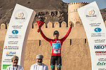 Alexey Lutsenko (KAZ) Astana Pro Team takes over the race leaders Red Jersey at the end of Stage 5 of the 2018 Tour of Oman running 152km from Sam'il to Jabal Al Akhdhar. 17th February 2018.<br />