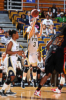 25 November 2011:  FIU guard Zsofia Labady (3) shoots a jump shot in the second half as the University of Maryland Terrapins defeated the FIU Golden Panthers, 84-52, at the U.S. Century Bank Arena in Miami, Florida.