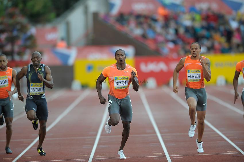Photo: Ady Kerry/Richard Lane Photography..Aviva British Grand Prix. 31/08/2009. .Shawn Crawford in the 200m