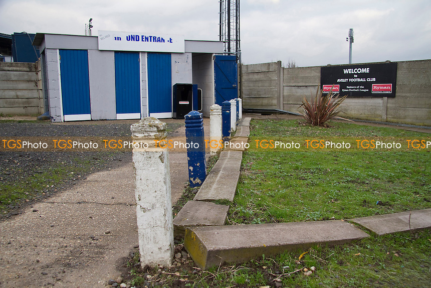 Spectators entrance at Aveley Football Club - Aveley vs Ilford - Ryman League Division One North Football at Mill Field, Aveley, Essex - 01/12/12 - MANDATORY CREDIT: David Bauckham / TGSPHOTO/ CENTRE CIRCLE PUBLISHING - contact@tgsphoto.co.uk - NO UNPAID USE.