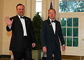 White House Director of Social Media Dan Scavino and Acting White House Chief of Staff and Director of the Office of Management and Budget (OMB) Mick Mulvaney arrive for the State Dinner hosted by United States President Donald J. Trump and First lady Melania Trump in honor of Prime Minister Scott Morrison of Australia and his wife, Jenny Morrison, at the White House in Washington, DC on Friday, September 20, 2019.<br /> Credit: Ron Sachs / Pool via CNP