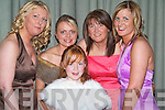 STYLE: Adding a touch of style to the Kerry Farmers Hunt Club Gala Ball in The Manor West Hotel, Tralee on Saturday night were front l-r: Larissa Gamble, Marie Murray, Marian Gamble, Kitty Flynn (all Killorglin) and Kitty Murray (Keel).   Copyright Kerry's Eye 2008