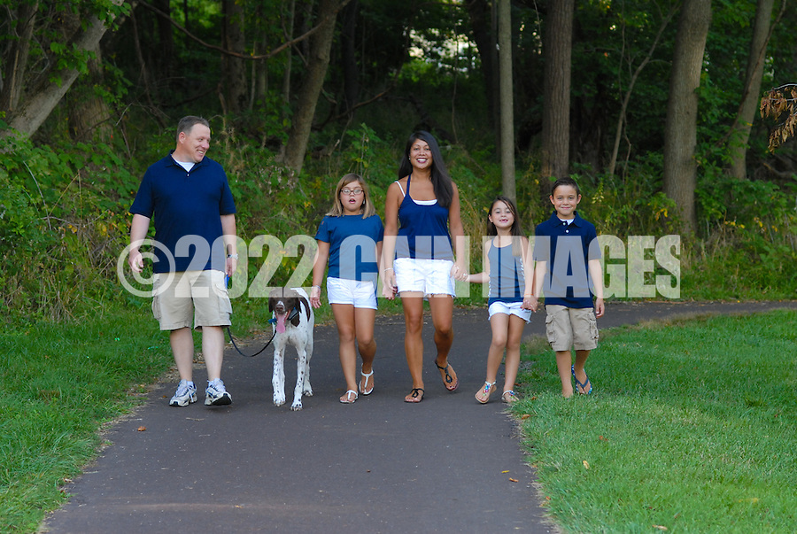 8/7/12 5:49:49 PM - Doylestown, PA. -- The Christie family is photographed August 7, 2012 in Doylestown, Pennsylvania. -- (Photo by William Thomas Cain/Cain Images)... -- ...Photo by William Thomas Cain, Freelance.