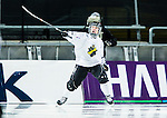 Solna 2014-03-15 Bandy SM-final Damer Kareby IS - AIK  :  <br /> AIK:s Linnea Linn&eacute;a Larsson jublar feer att ha gjort 1-1<br /> (Foto: Kenta J&ouml;nsson) Nyckelord:  SM SM-final final dam damer Kareby AIK jubel gl&auml;dje lycka glad happy