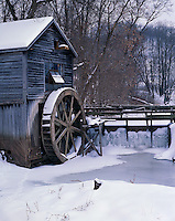 Iowa County, WI<br /> Snow cover on Hyde's mill and Trout Creek