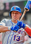 29 April 2017: New York Mets infielder Asdrubal Cabrera stands on deck during the first inning against the Washington Nationals at Nationals Park in Washington, DC. The Mets defeated the Nationals 5-3 to take the second game of their 3-game weekend series. Mandatory Credit: Ed Wolfstein Photo *** RAW (NEF) Image File Available ***