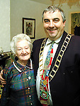 Sean Collins with Ms. Wolf from Pearse Park..Picture Paul Mohan Newsfile