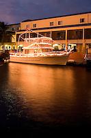 Boat decorated in Christmas Lights, Key Largo, Florida Keys
