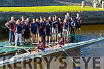 GENERATION: Future generation rowers Jenny Fox and Katie nagle with fellow rowers from Tralee Rowing Club on Monday