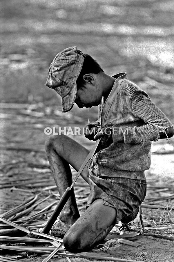 Trabalho infantil no canavial. Alagoas. 1993. Foto de Paula Simas.