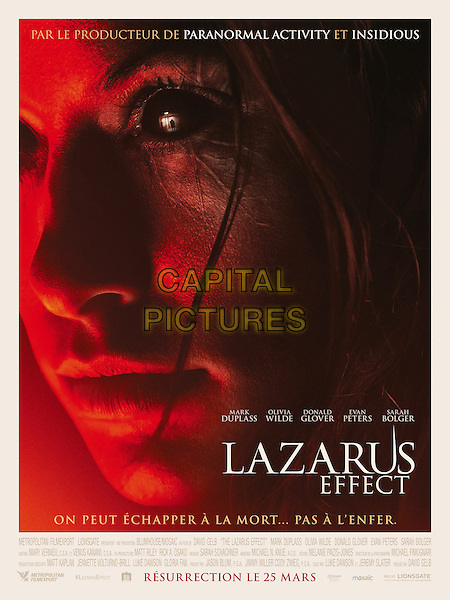 POSTER ART<br /> in The Lazarus Effect (2015) <br /> *Filmstill - Editorial Use Only*<br /> CAP/NFS<br /> Image supplied by Capital Pictures