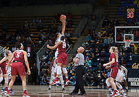 Berkeley, CA - February 16th, 2017:  CAL Women's Basketball's 66-72 loss against Stanford Cardinal at Haas Pavilion.