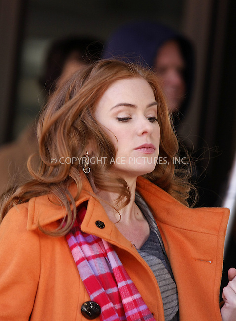 WWW.ACEPIXS.COM . . . . .  ....February 20 2008, New York City....Actress Isla Fisher was back on the set of her new movie 'Confessions of a Shopaholic' in the Meatpacking district of New York City....Please byline: AJ Sokalner - ACEPIXS.COM..... *** ***..Ace Pictures, Inc:  ..te: (646) 769 0430..e-mail: info@acepixs.com..web: http://www.acepixs.com