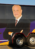 Cedar Rapids, IA - September 8, 2007 -- Close-up of the image of Fred Thompson on the side of his 2008 campaign bus parked at the Cedar Rapids Marriott, Cedar Rapids, Iowa on Saturday, September 8, 2007.  Thompson spent the night at the hotel in advance of an appearance..Credit: Ron Sachs / CNP.(RESTRICTION: No New York Metro or other Newspapers within a 75 mile radius of New York City)