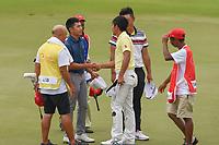 Lloyd Jefferson GO (PHI) congratulates Takumi KANAYA (JPN) for winning the Asia-Pacific Amateur Championship, Sentosa Golf Club, Singapore. 10/7/2018.<br /> Picture: Golffile | Ken Murray<br /> <br /> <br /> All photo usage must carry mandatory copyright credit (&copy; Golffile | Ken Murray)