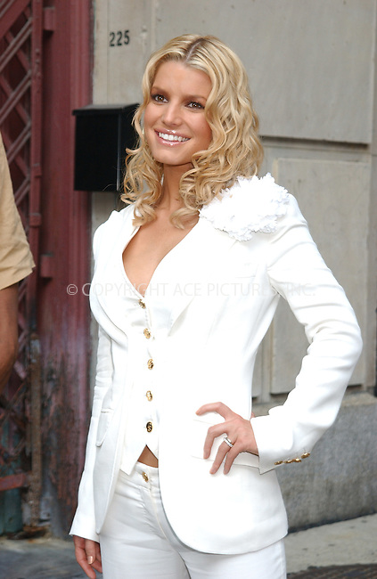 WWW.ACEPIXS.COM . . . . . ....NEW YORK, AUGUST 8, 2005....Jessica Simpson at an appearance at The Late Show with David Letterman.....Please byline: KRISTIN CALLAHAN - ACE PICTURES.. . . . . . ..Ace Pictures, Inc:  ..Craig Ashby (212) 243-8787..e-mail: picturedesk@acepixs.com..web: http://www.acepixs.com