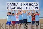 BANNA RUN: Former member of St Brendan's AC and TV3 sports reporter Sinead Kissane launching the Banna Run 10km with member's of the St Brendan's AC at Banna Strand on Saturday l-r: Conn Marley, Aaron Malik, Grannie Raggett, Riadh Malik, Sinead Kissane, Kate O'Shea, Denis Horgan and Niall Marley.